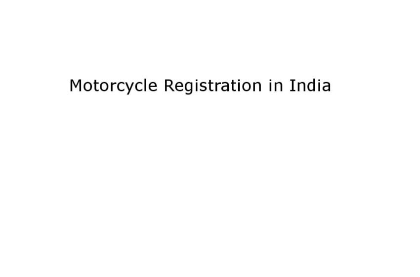 Motorcycle Registration in India