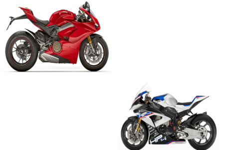 Ducati Panigale V4 S vs BMW HP4 Race
