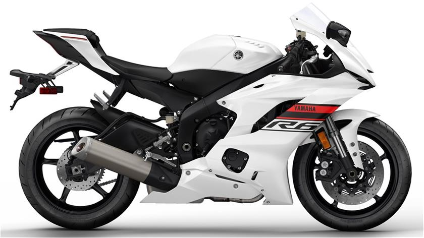 Yamaha R6 Intensity White