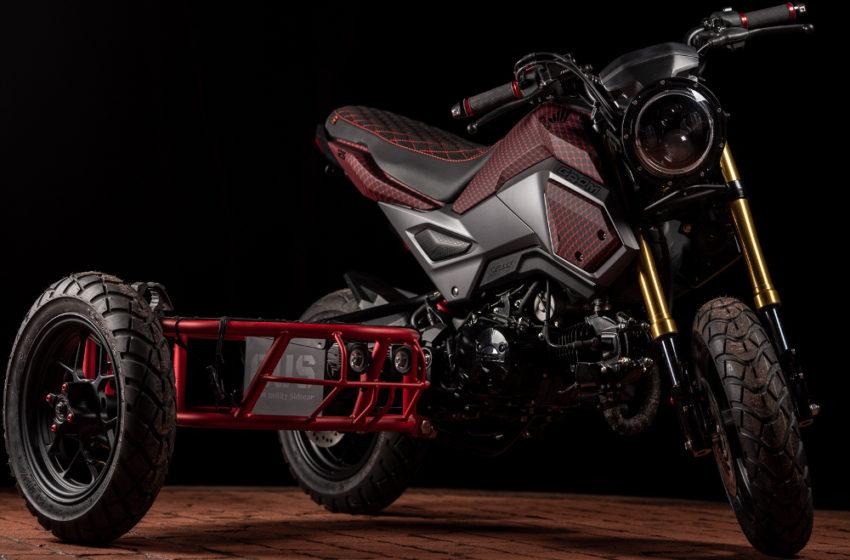 Custom : Industrial Moto's Grom Sidecar