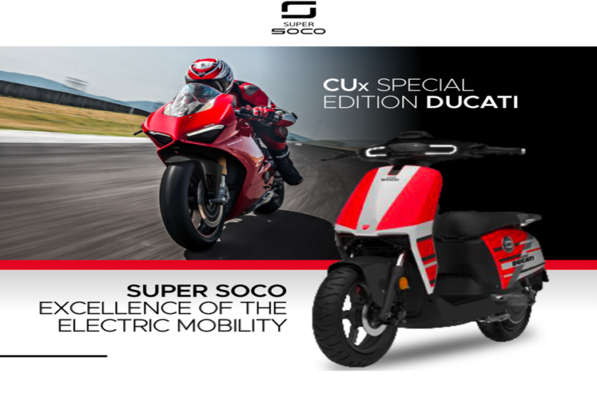 News : Super Soco brings new special CUx Ducati edition scooter with price tag of € 2,980