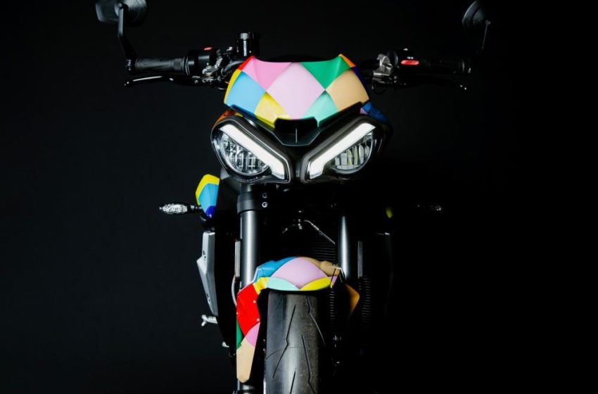 Triumph Street Triple RS special livery for Birds of Prey movie