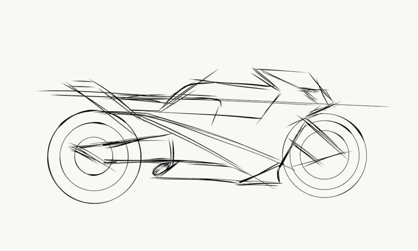 How to design a motorcycle on the mobile phone?