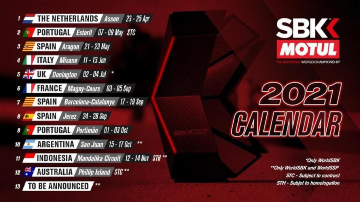Image result for world superbikes 2021 calendar